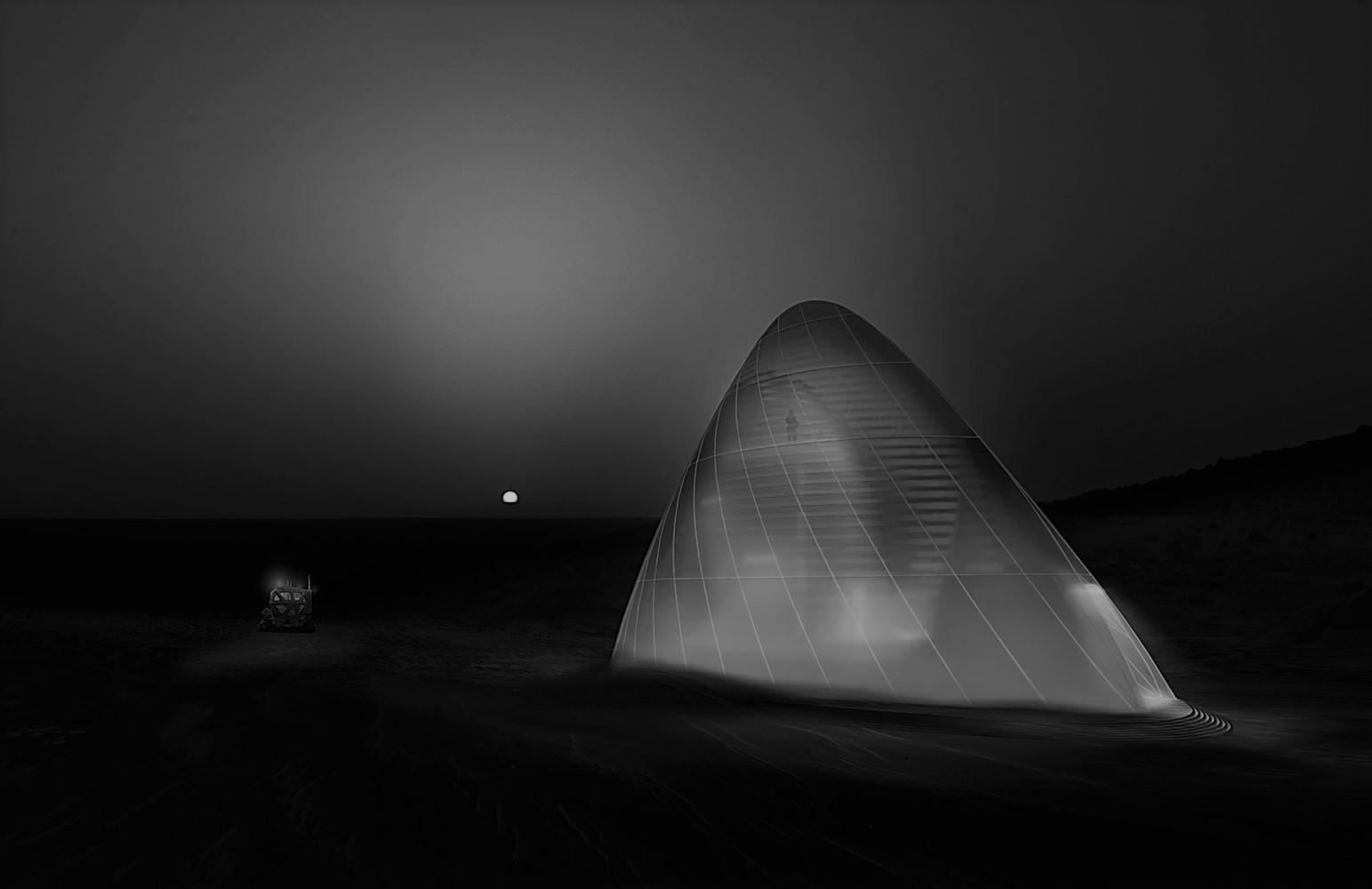 A habitação que será impressa em Marte